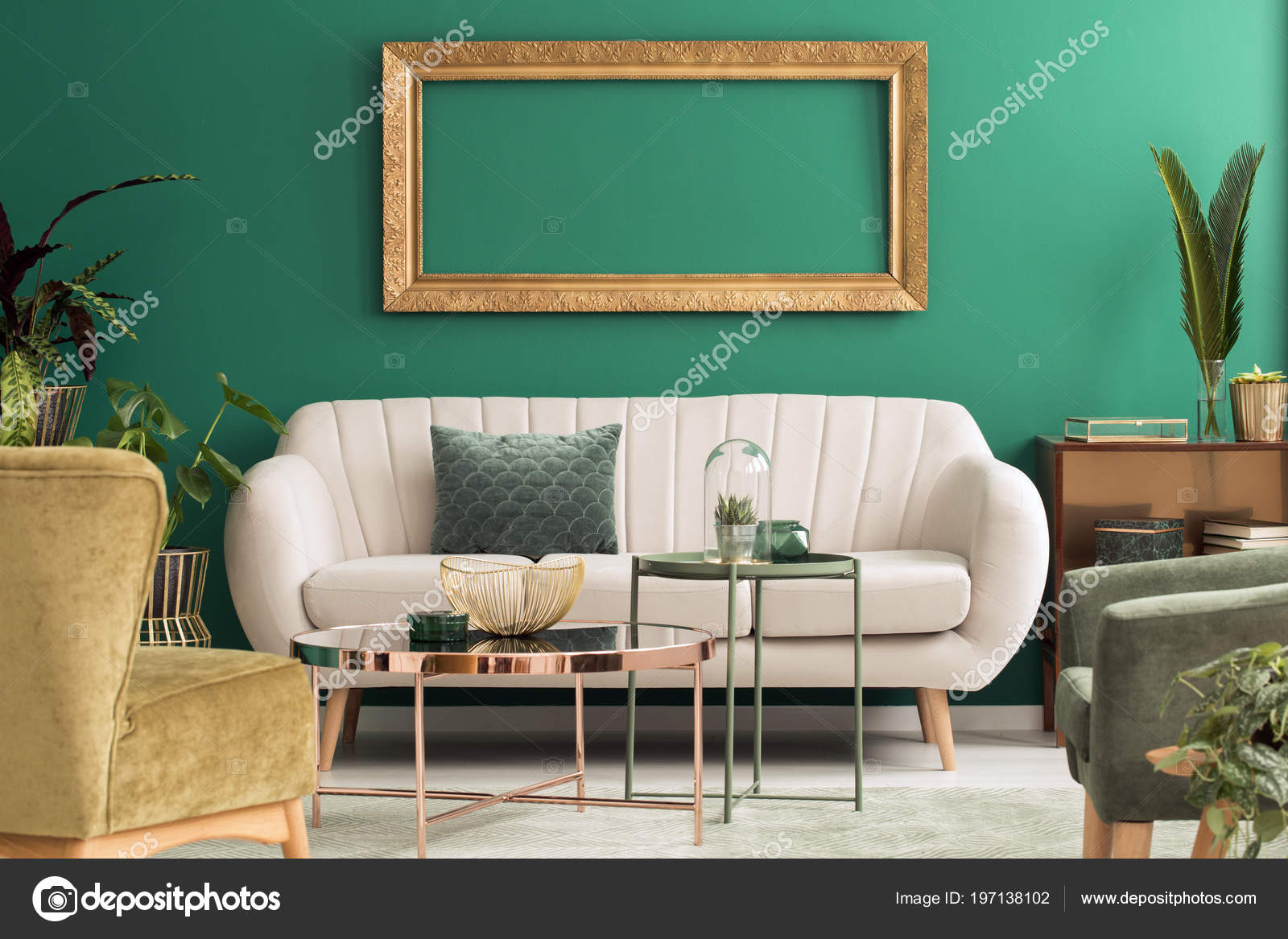 Green And Gold Living Room Ideas Metal Green Gold Tables