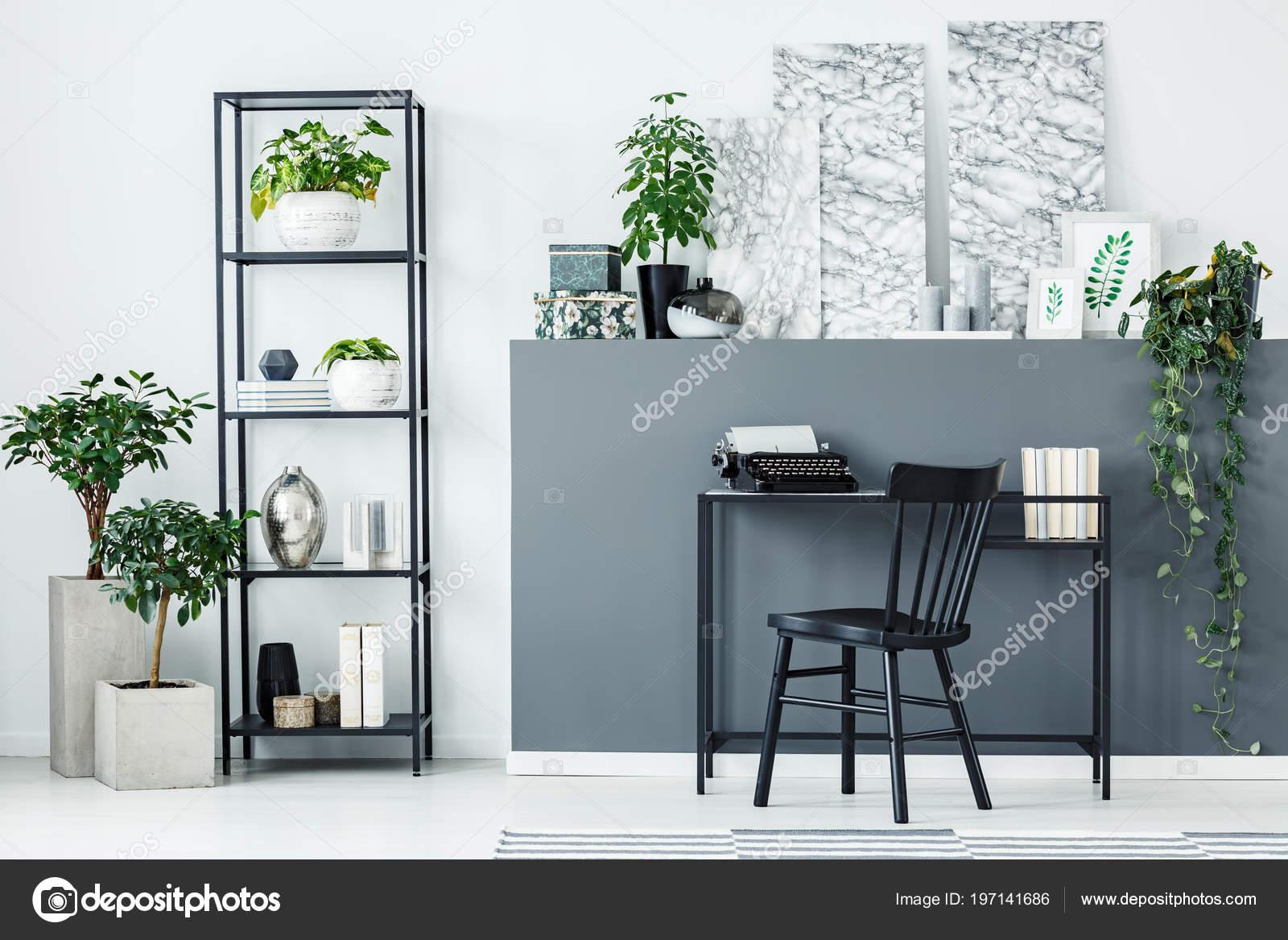 Prime Plants Metal Shelf Decorations Black Desk Home Office Beutiful Home Inspiration Aditmahrainfo