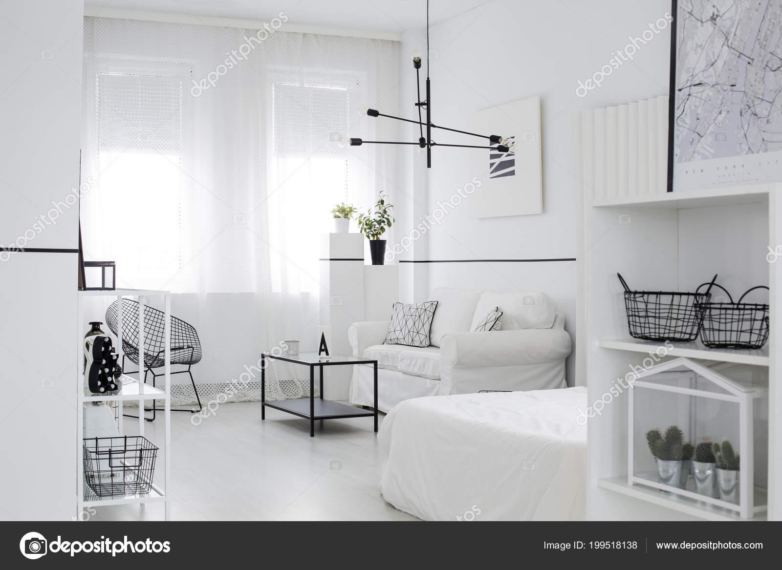 Skandinavischen Stil Wohnzimmer Interieur Mit Windows