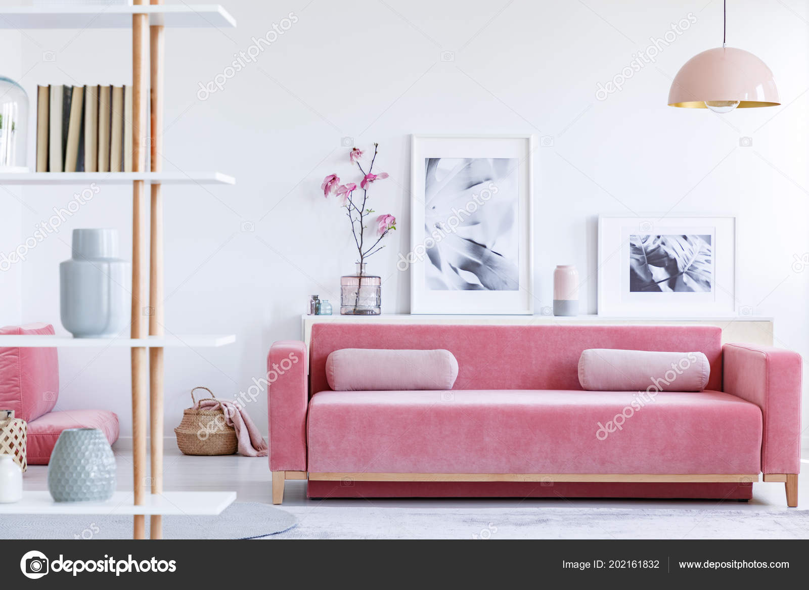 Fabulous Real Photo Pink Couch Pillows Front Shelf Posters Flowers Unemploymentrelief Wooden Chair Designs For Living Room Unemploymentrelieforg