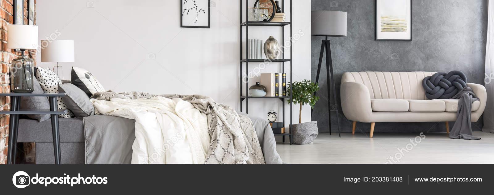 черный промышленная мебель удобная кровать стильный диван спальные