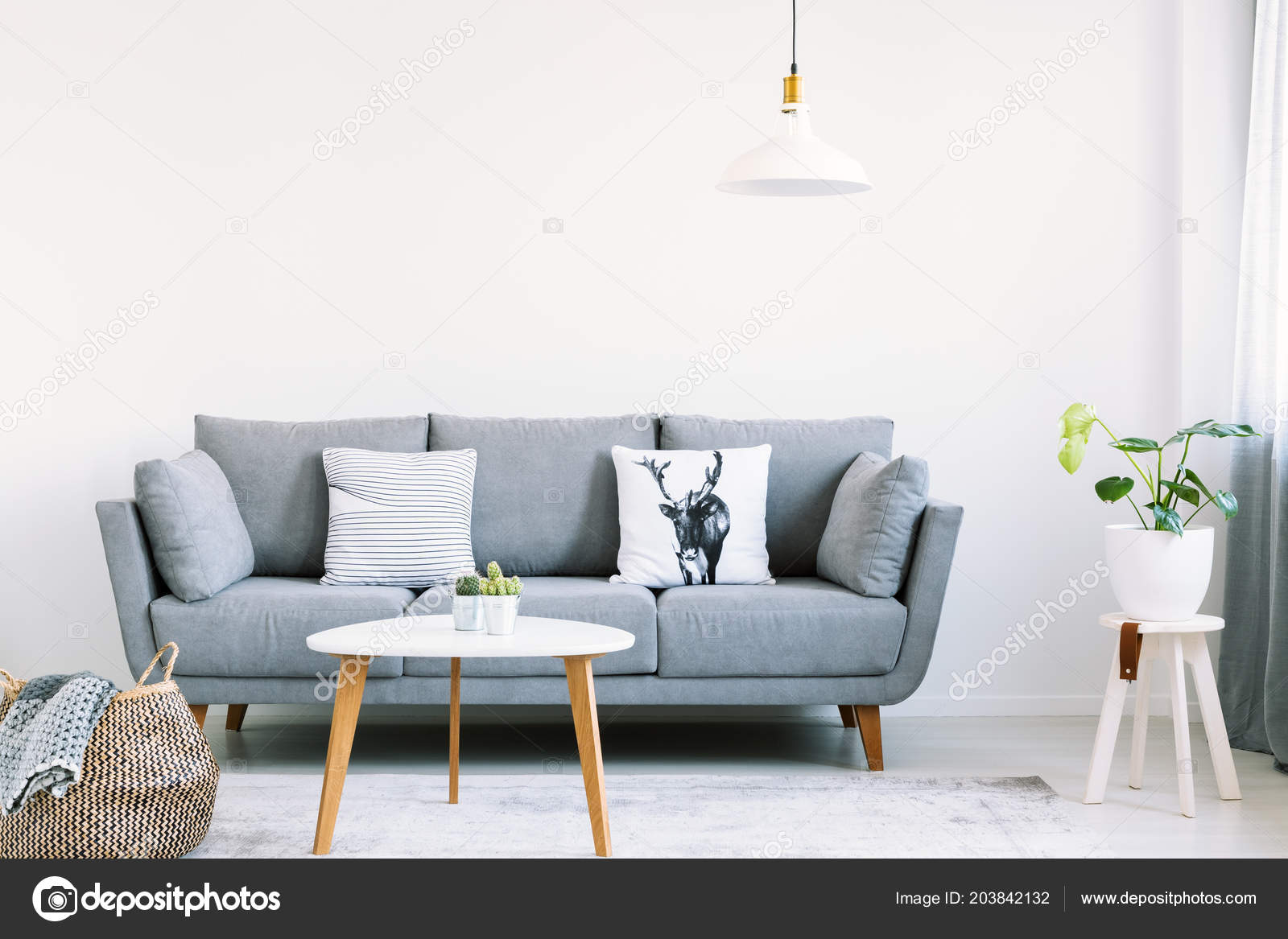 Prime Simple Interior Bright Living Room White Pillows Gray Sofa Creativecarmelina Interior Chair Design Creativecarmelinacom