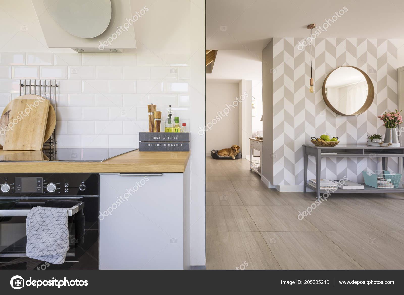 интерьер кухни открытое пространство современной печи специй