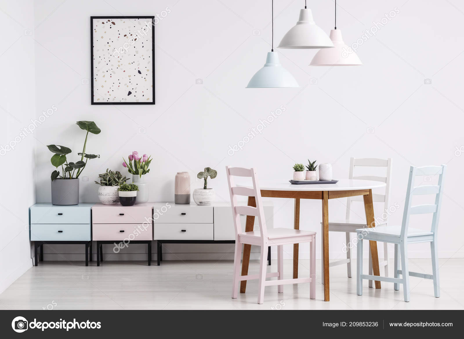 Table Chairs Lamps Poster Shelves, Cute Dining Room Chairs