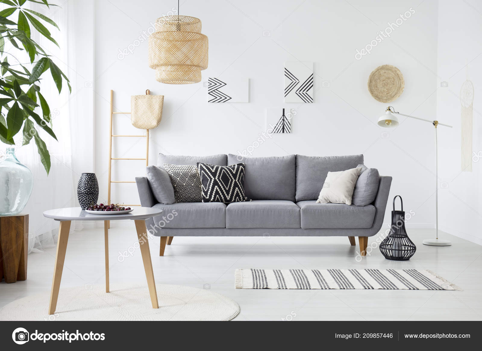 depositphotos stock photo real photo simple living room