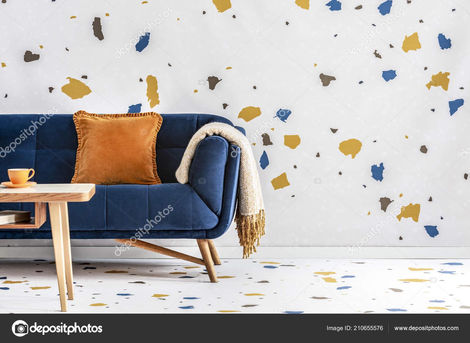 Excellent Orange And Navy Blue Bedroom Orange Pillow Blanket Navy Ncnpc Chair Design For Home Ncnpcorg