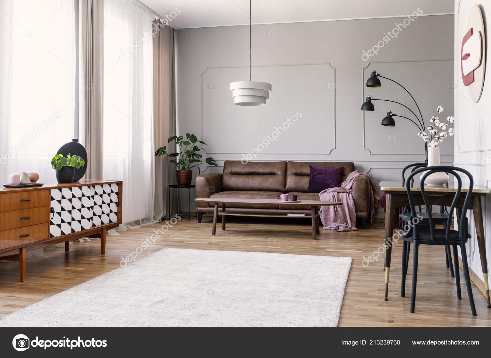 Strange Wooden Cupboard Bright Living Room Interior Leather Sofa Creativecarmelina Interior Chair Design Creativecarmelinacom