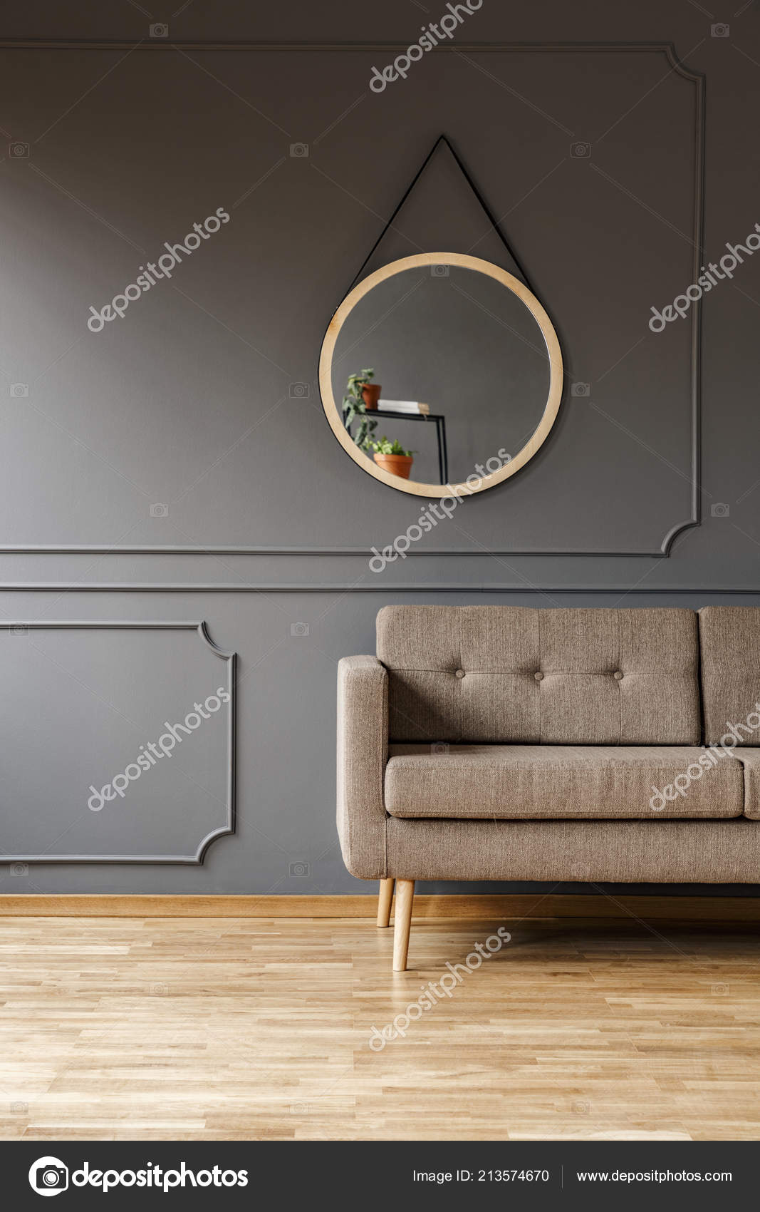 Remarkable Mirror Simple Elegant Brown Sofa Place Side Table Fancy Beatyapartments Chair Design Images Beatyapartmentscom