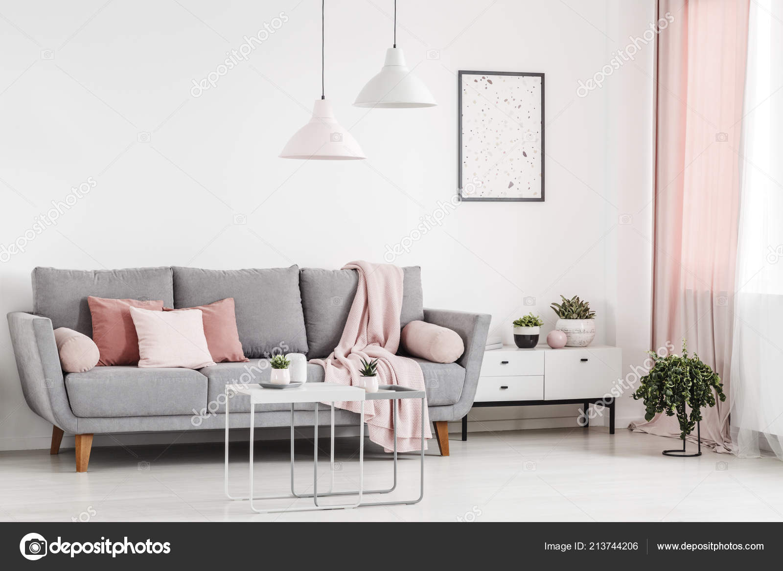 Surprising Pink Pillows Grey Couch White Apartment Interior Poster Andrewgaddart Wooden Chair Designs For Living Room Andrewgaddartcom