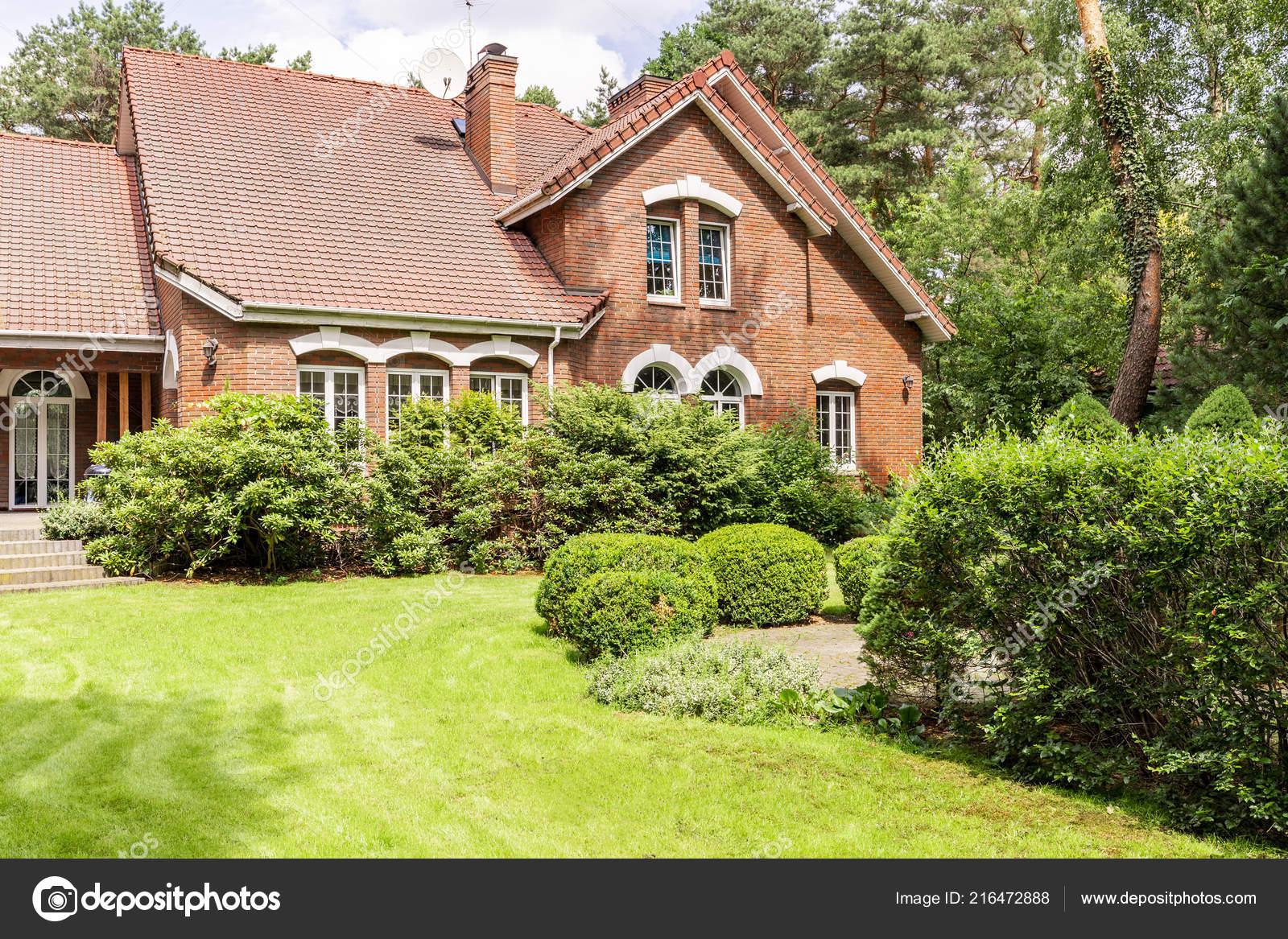 Real P O Garden Bushes Beautiful Brick House Stock P O