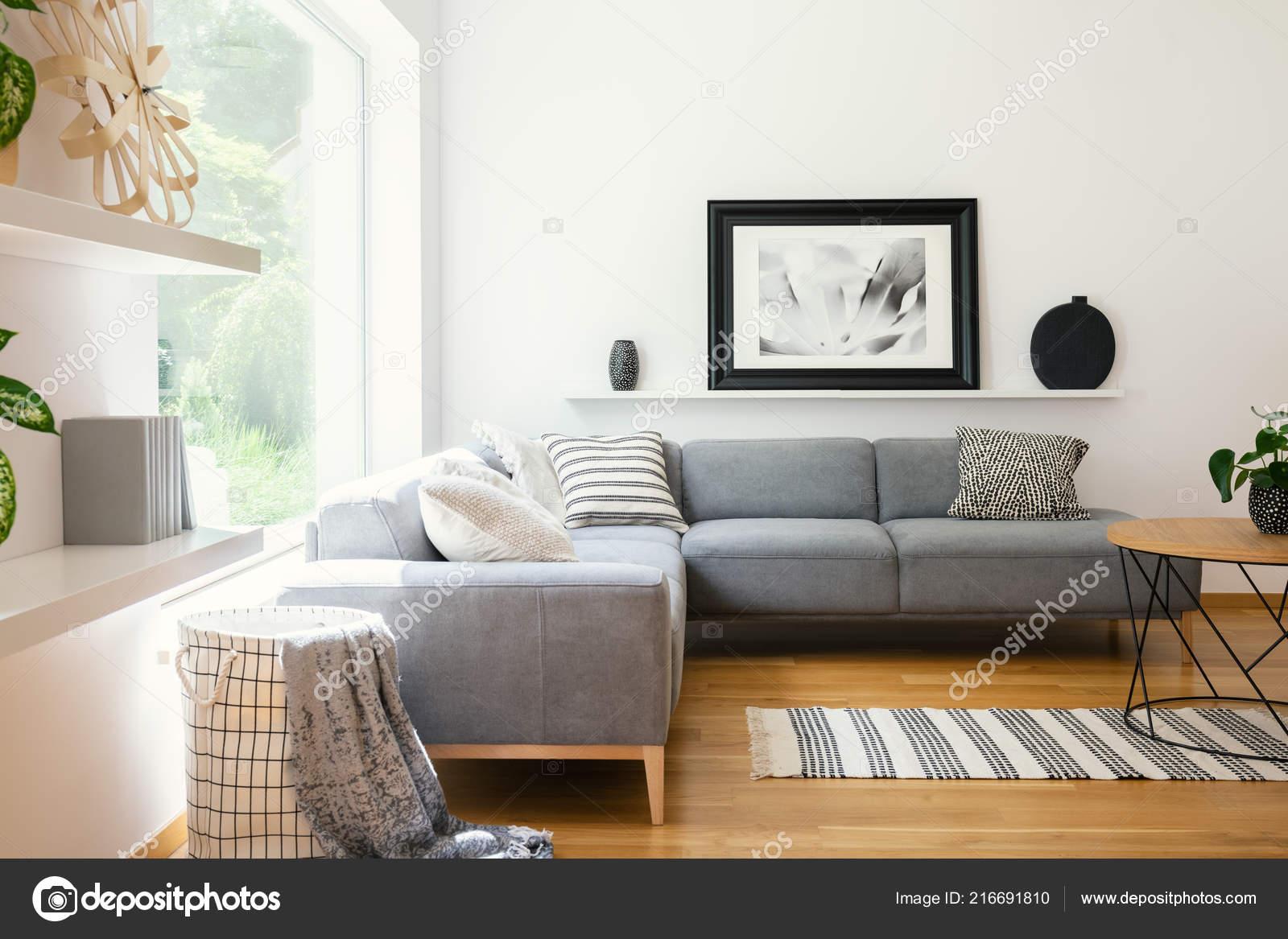 Zwart wit textiel decoratie een klassieke scandinavische stijl