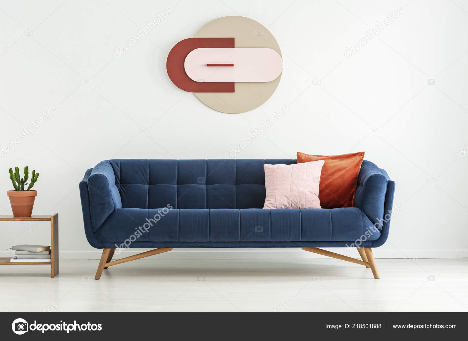 Terrific Pillows Navy Blue Couch Next Plant Table White Living Room Pabps2019 Chair Design Images Pabps2019Com