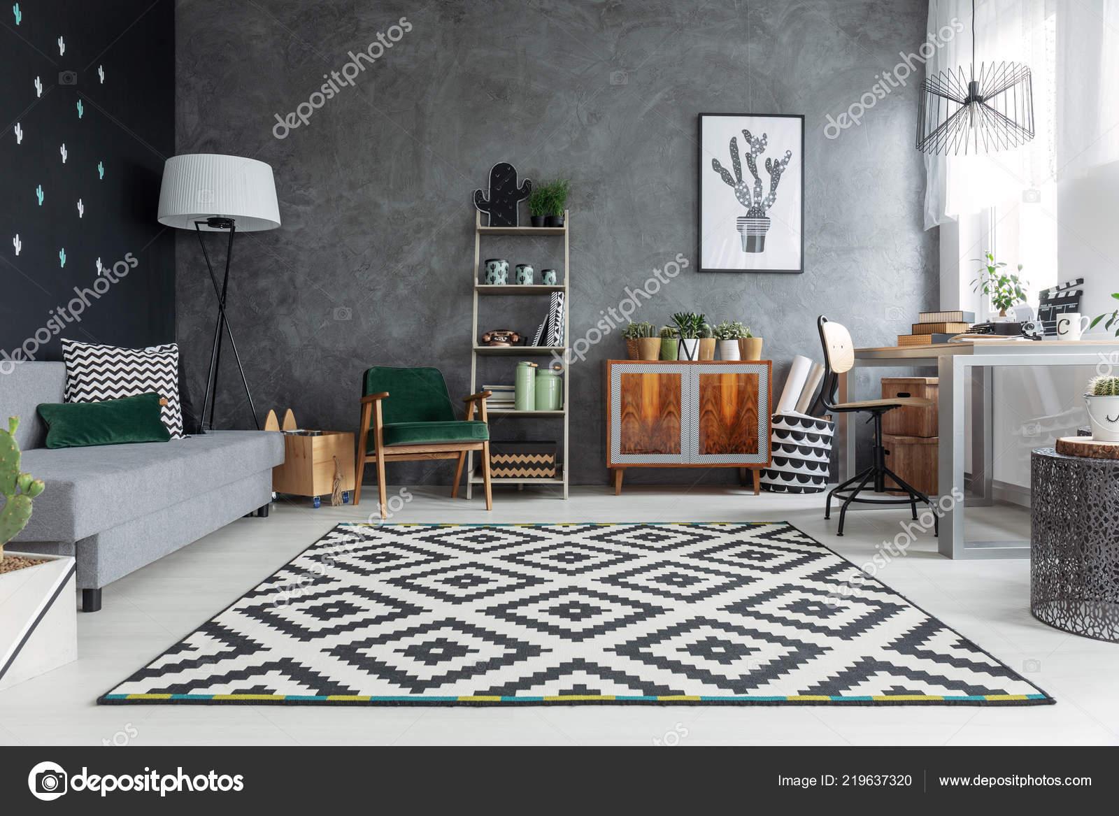 Dark grey living room walls | Dark Grey Living Room Interior ...