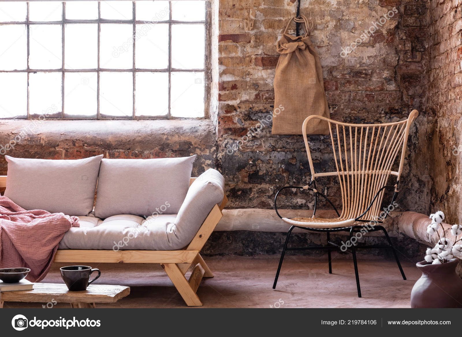 Armchair Next Grey Sofa Cushions Industrial Interior Window