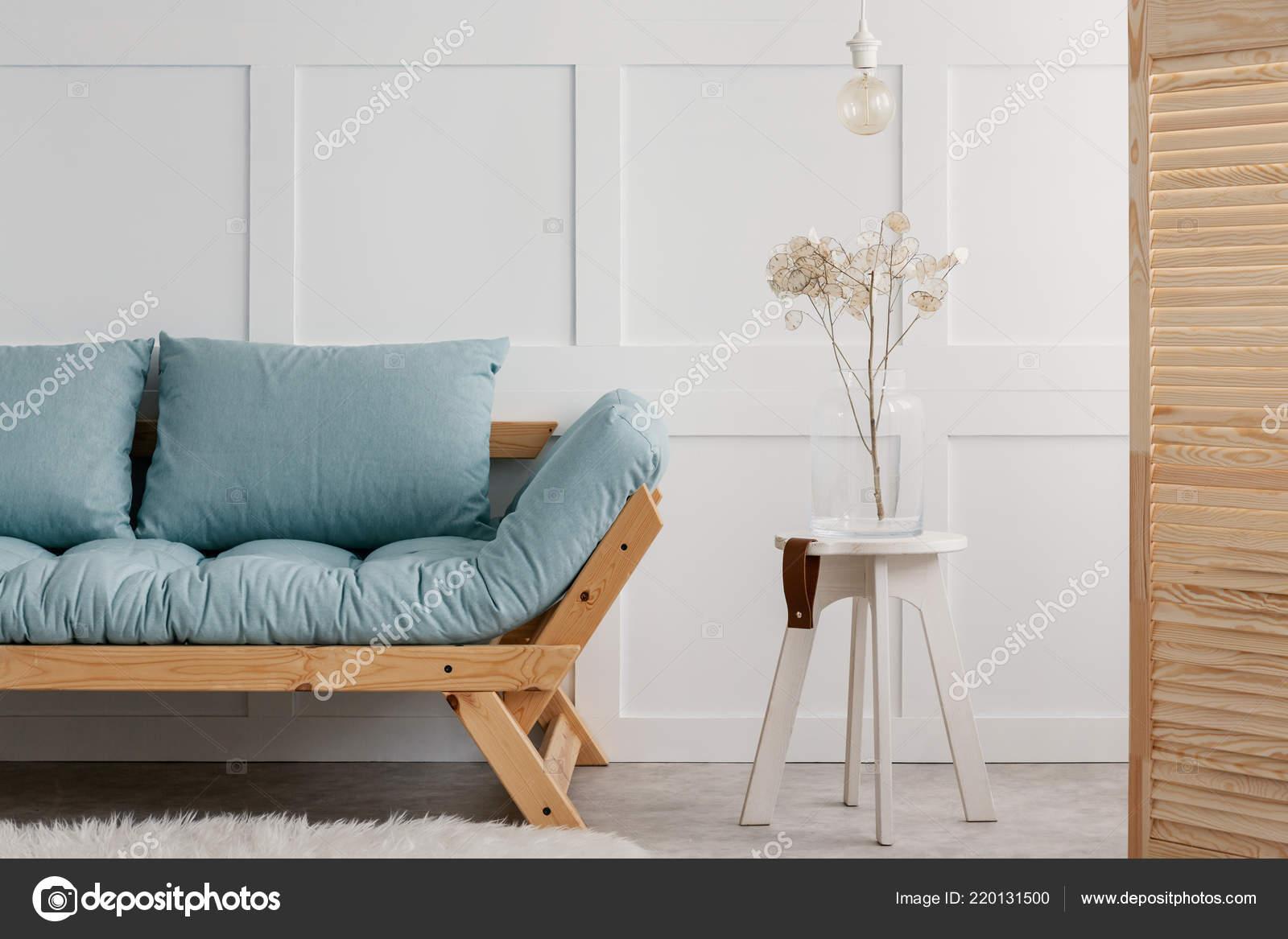 Sgabello in legno bianco xh cm con cuscino imbottito arredo