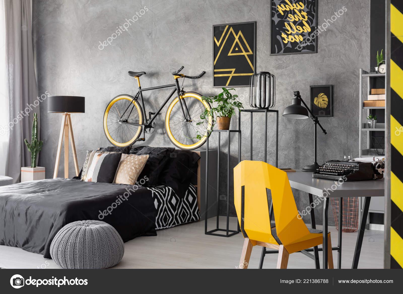Plakaty Rower Nad łóżkiem Czarny Szary Nastolatek Wnętrza