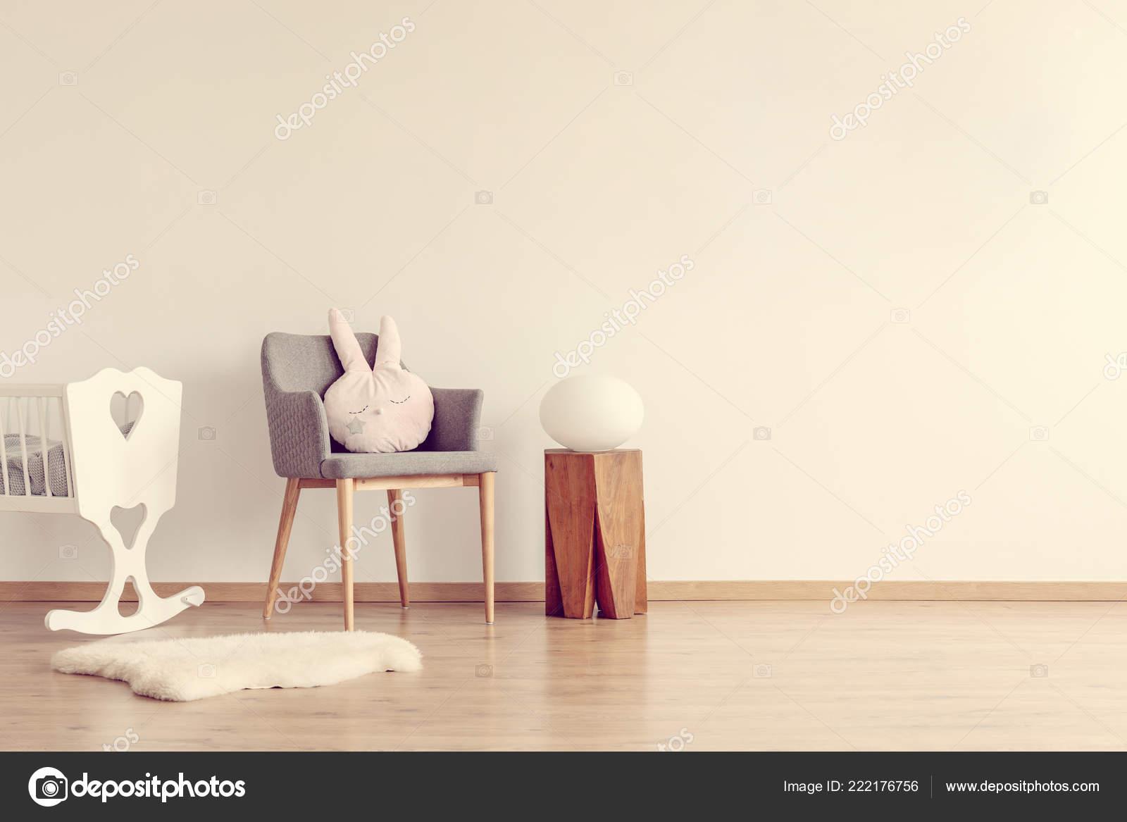 Awe Inspiring Grey Chair Pink Pillow Wooden Stool White Crib Scandinavian Theyellowbook Wood Chair Design Ideas Theyellowbookinfo