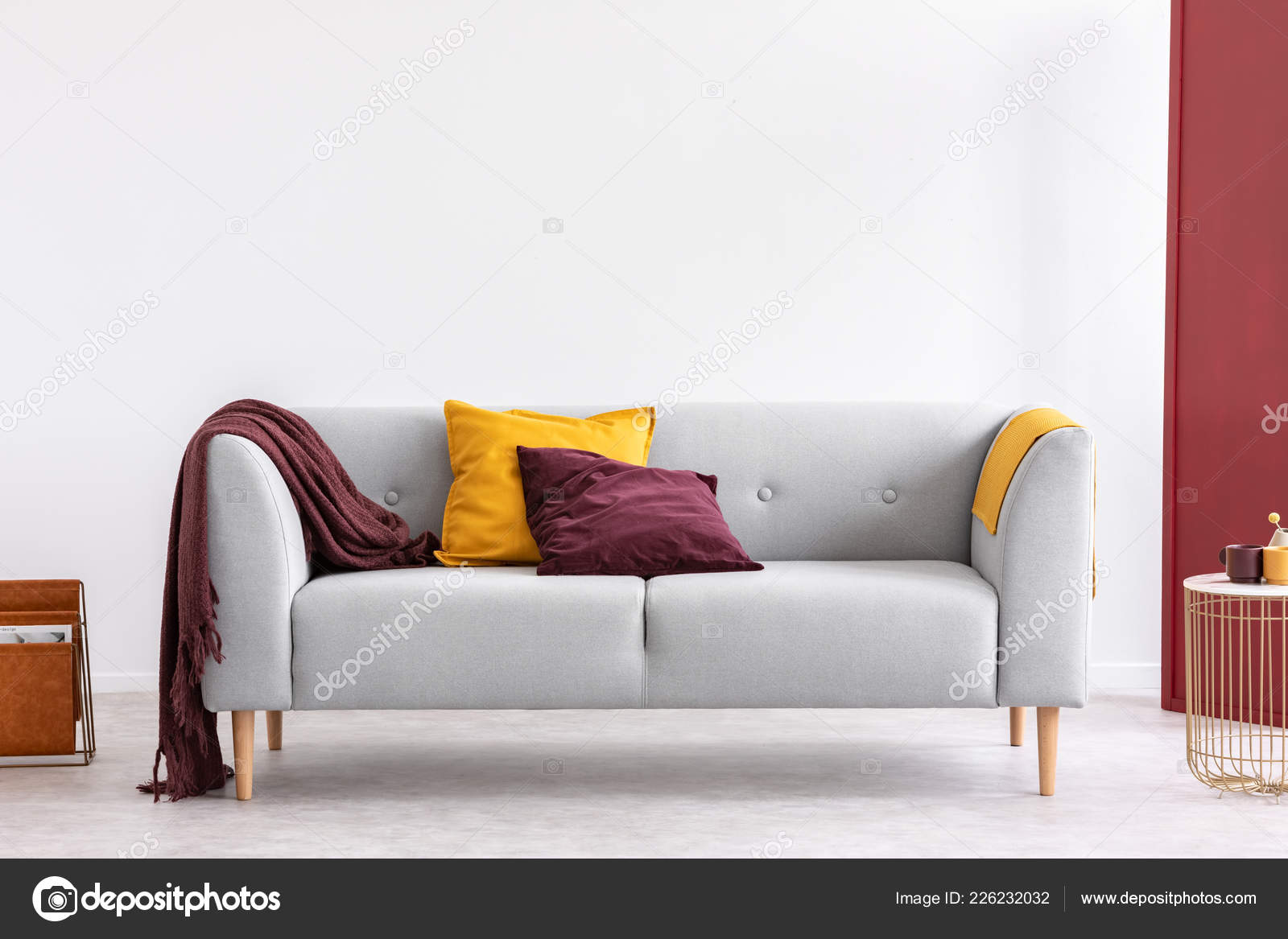 Stupendous Burgundy Pillow Blanket Yellow Pillow Blanket Stylish Grey Bralicious Painted Fabric Chair Ideas Braliciousco
