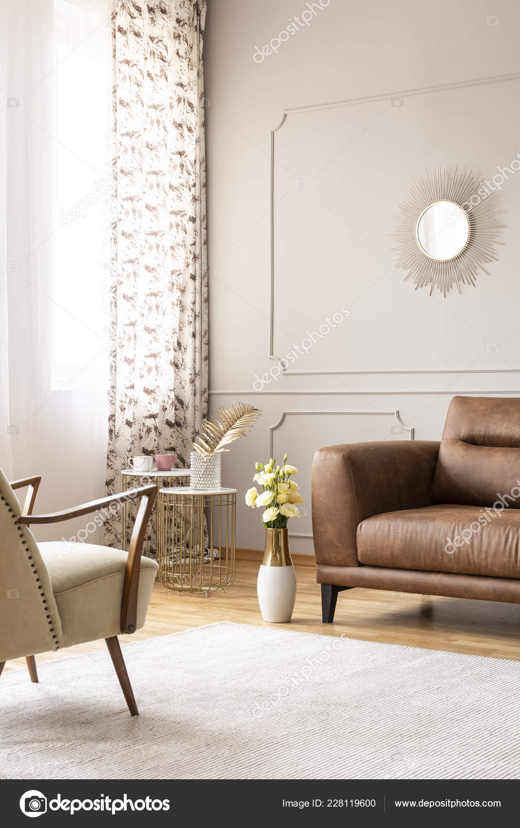 Marvelous Real Photo Bright Living Room Interior White Carpet Window Caraccident5 Cool Chair Designs And Ideas Caraccident5Info