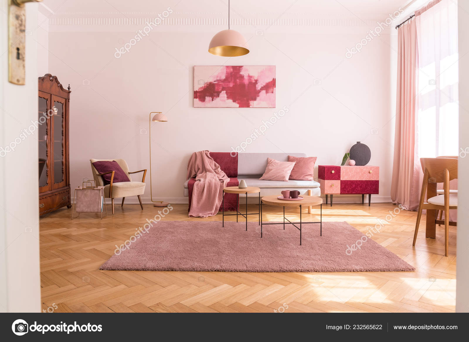 Fine Trendy Living Room Interior Grey Couch Pastel Pink Pillows Bralicious Painted Fabric Chair Ideas Braliciousco