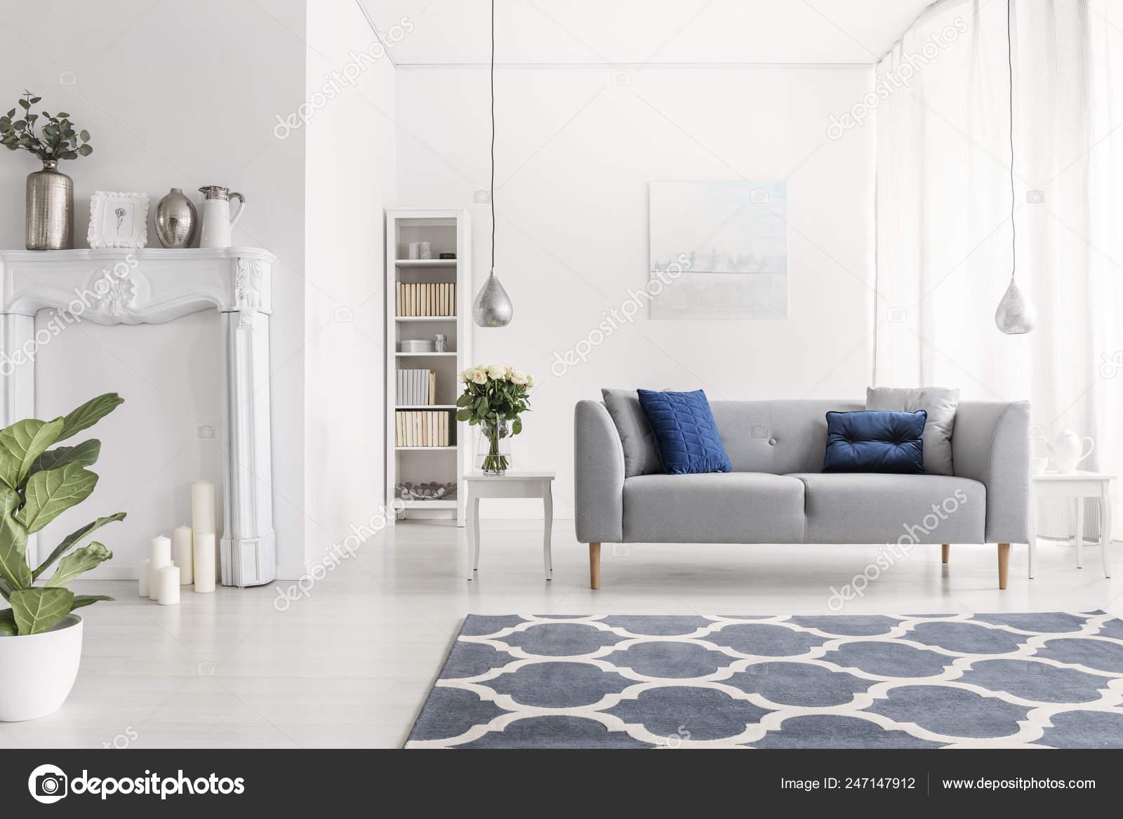 Simmetria Nel Design Lusso New York Stile Soggiorno Con ...