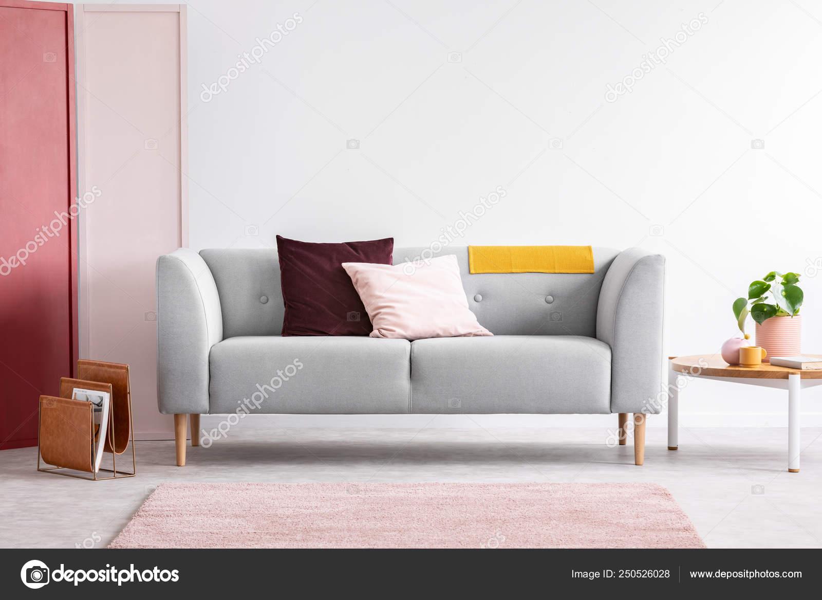 Peachy Pastel Pink And Burgundy Pillows On Grey Sofa In Elegant Dailytribune Chair Design For Home Dailytribuneorg