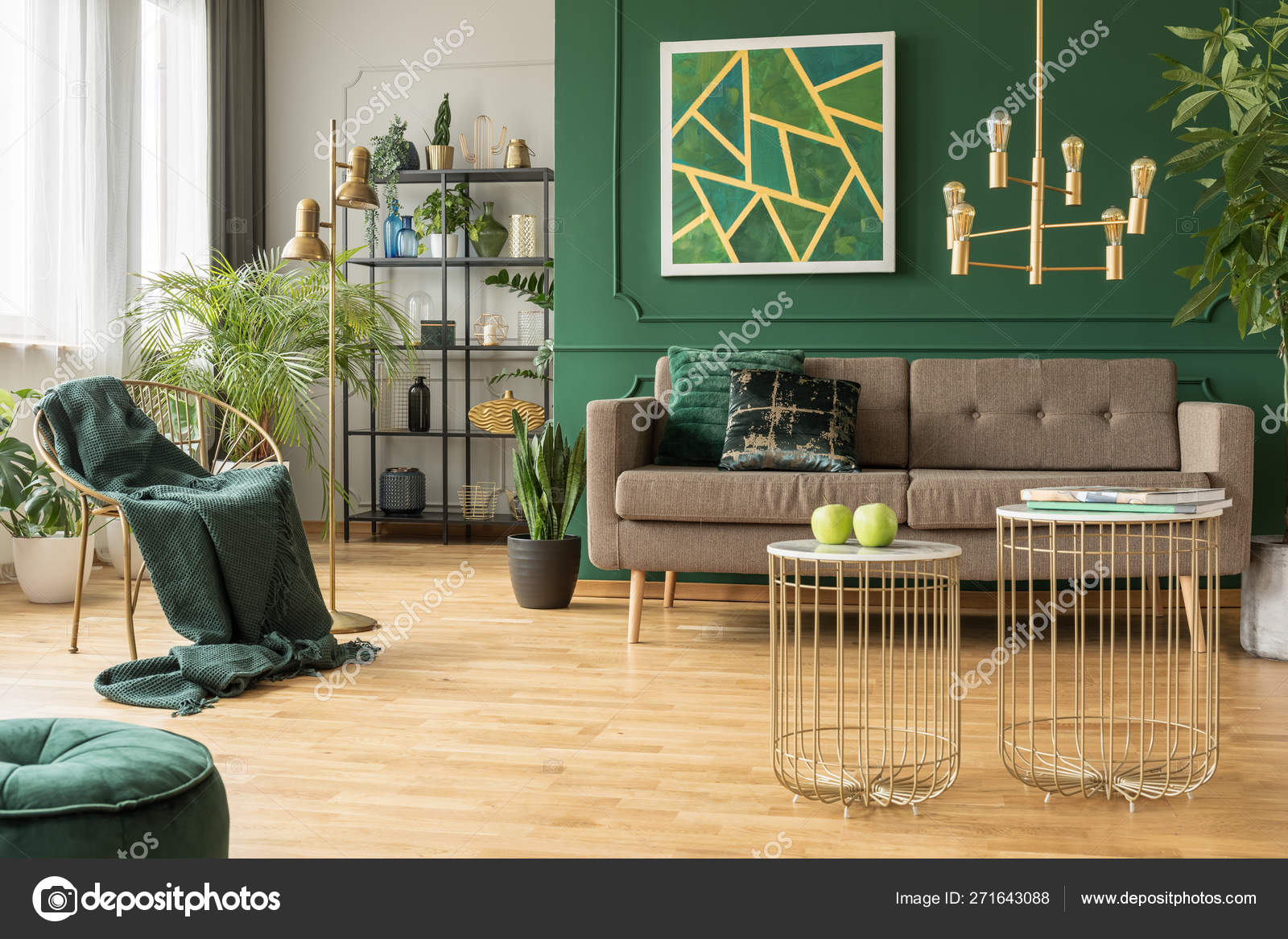 Green And Gold Living Room Decor Modern Gold And Green Living