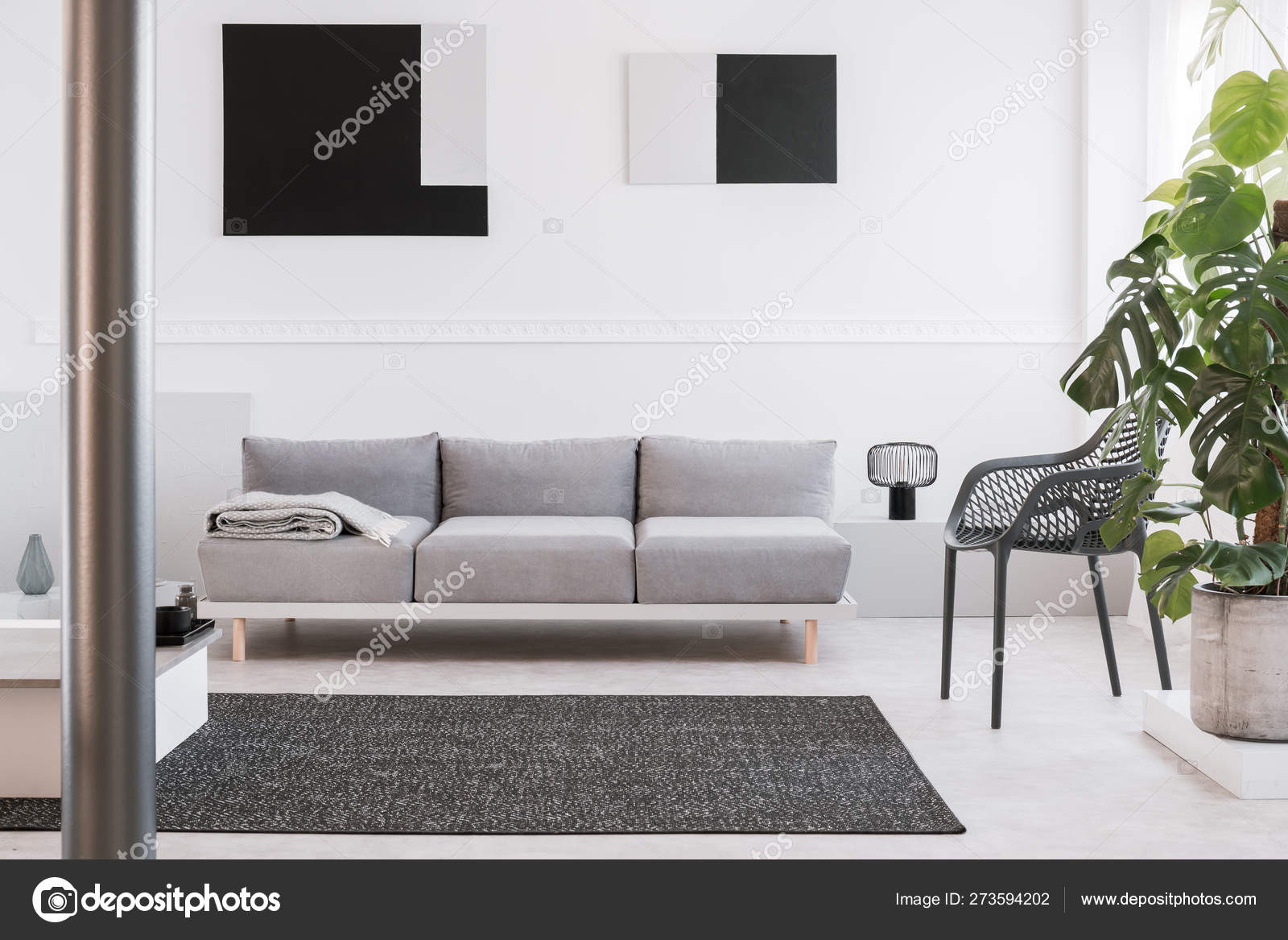 Sensational Fancy Grey Metal Chair Next To Comfortable Couch In Bright Inzonedesignstudio Interior Chair Design Inzonedesignstudiocom