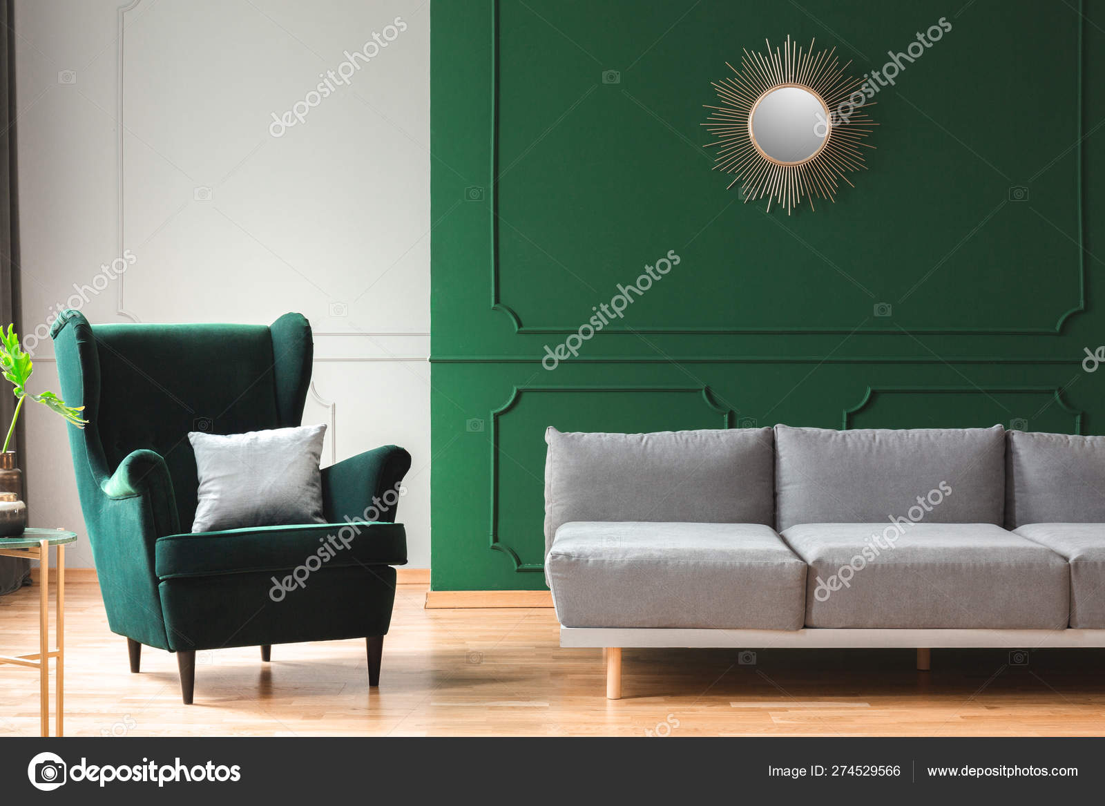 Super Elegant Living Room Interior With Emerald Green Chair With Gmtry Best Dining Table And Chair Ideas Images Gmtryco