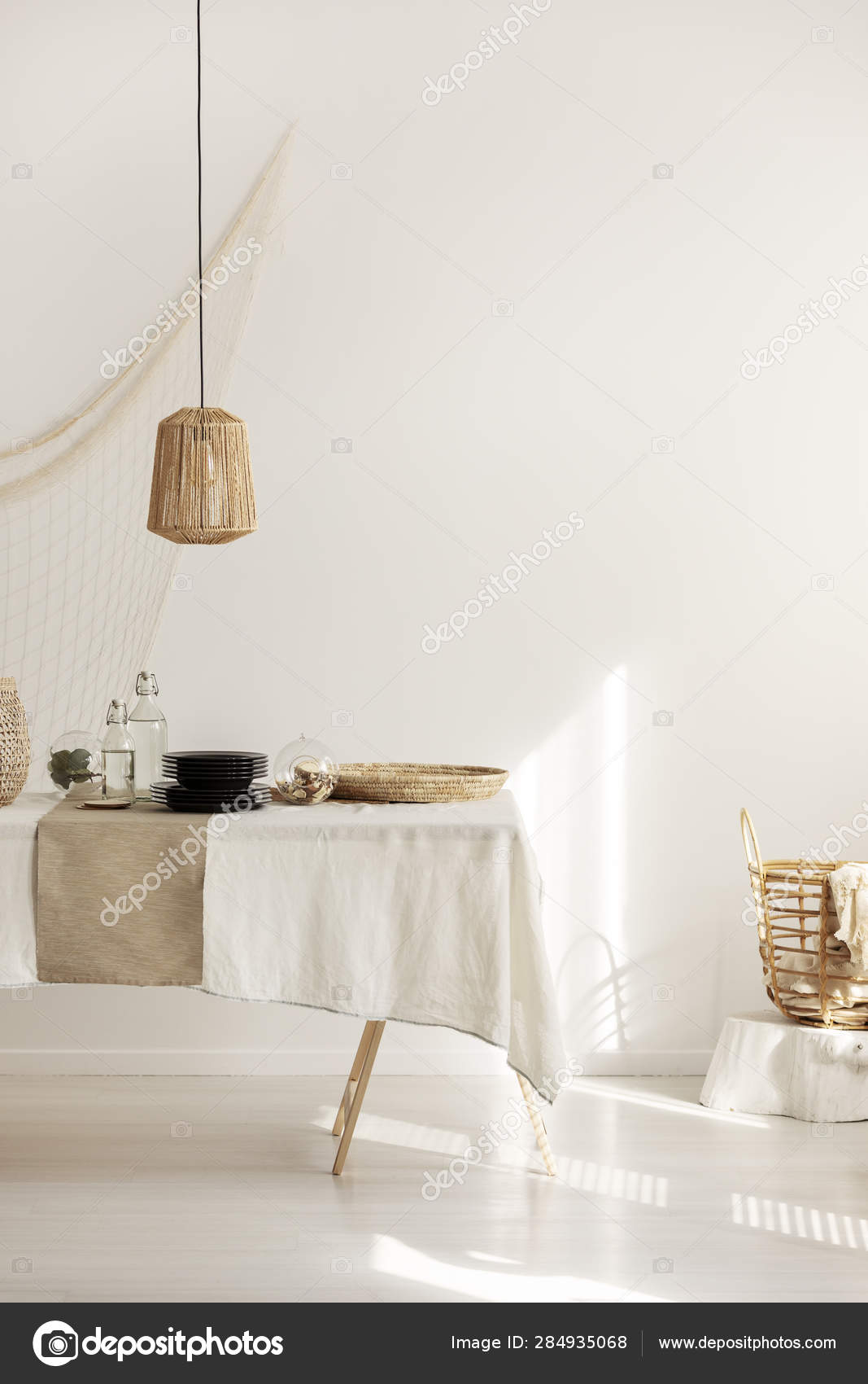 Picture of: Bright White Living Room With Table In The Center Stock Photo C Photographee Eu 284935068