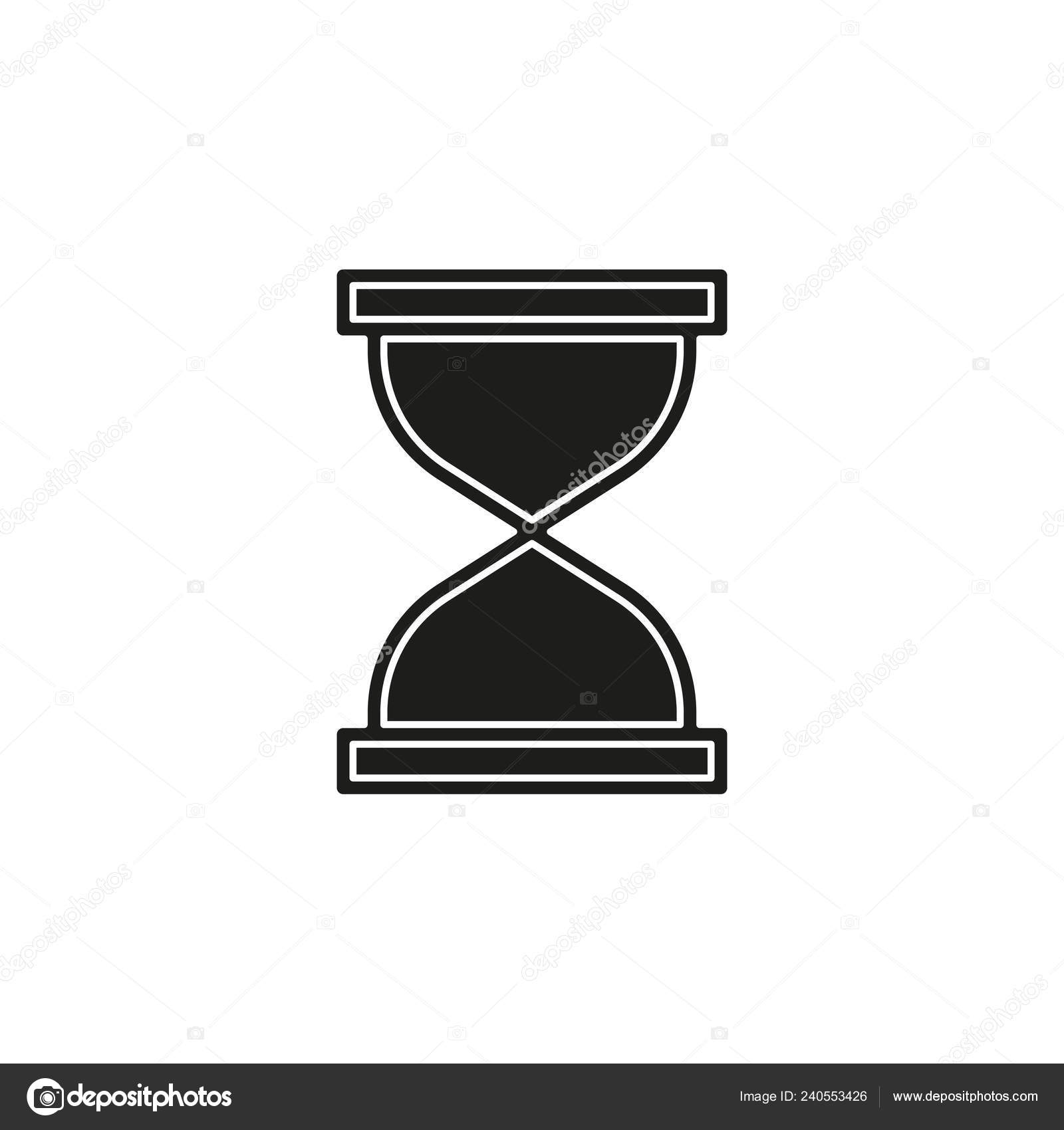 Hourglass Icon Sand Time Clock Flat Pictogram Simple Icon
