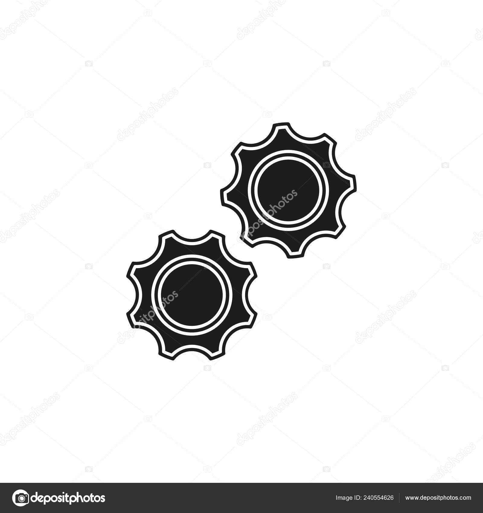 Vector Gears Cogs Icon Settings Symbol Industrial Element