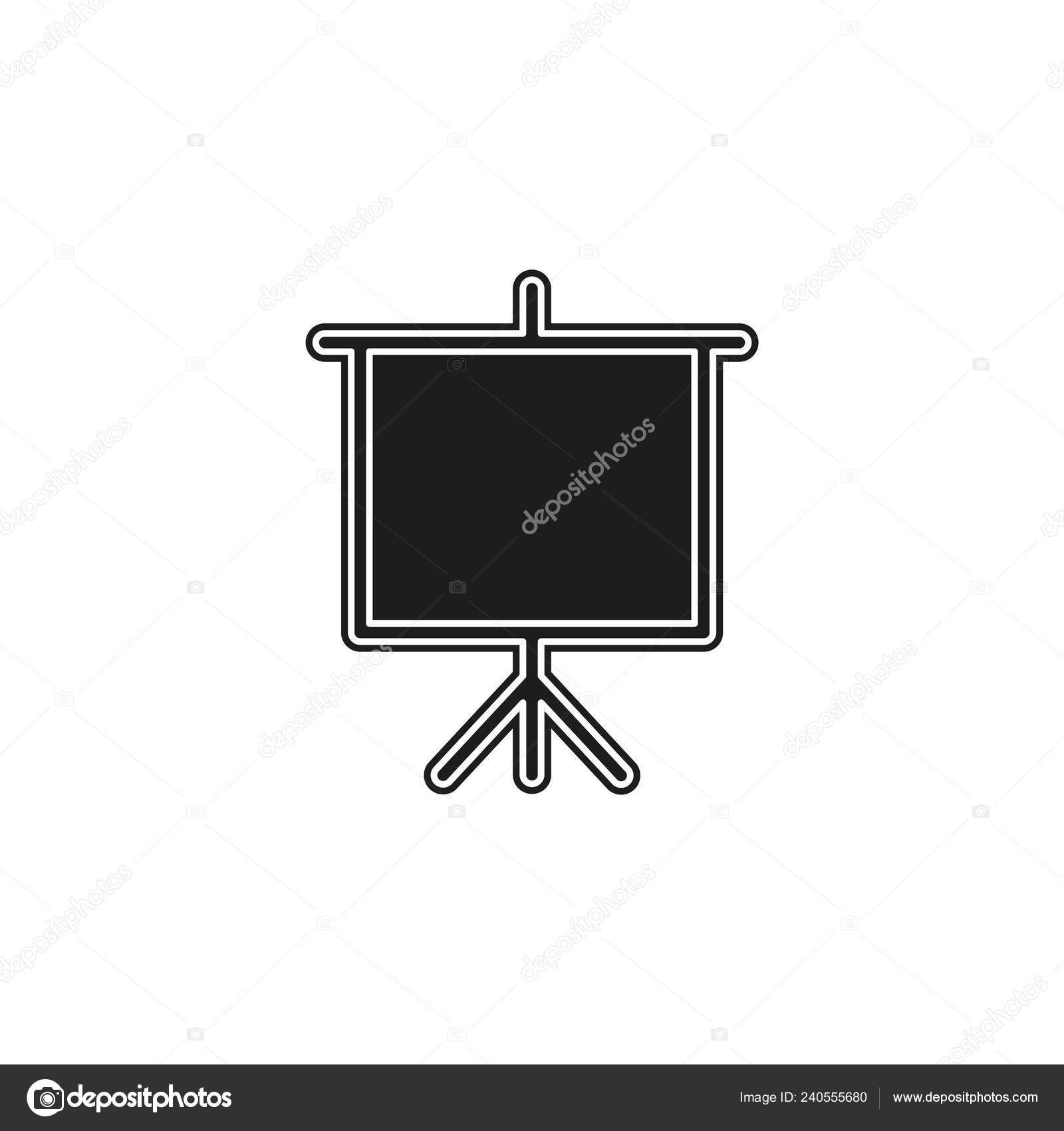Education Board Icon School Chalk Board Illustration Drawing