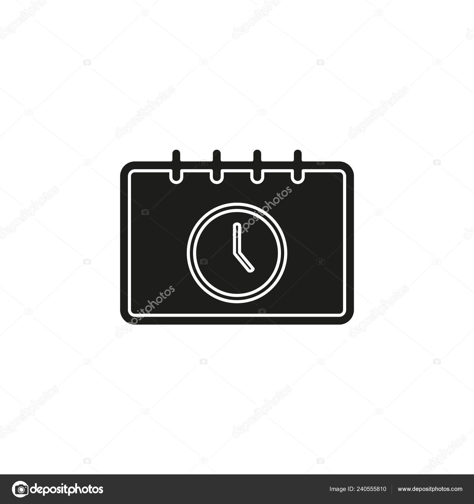 Calendar Appointment Icon Time Clock Day Calendar Flat
