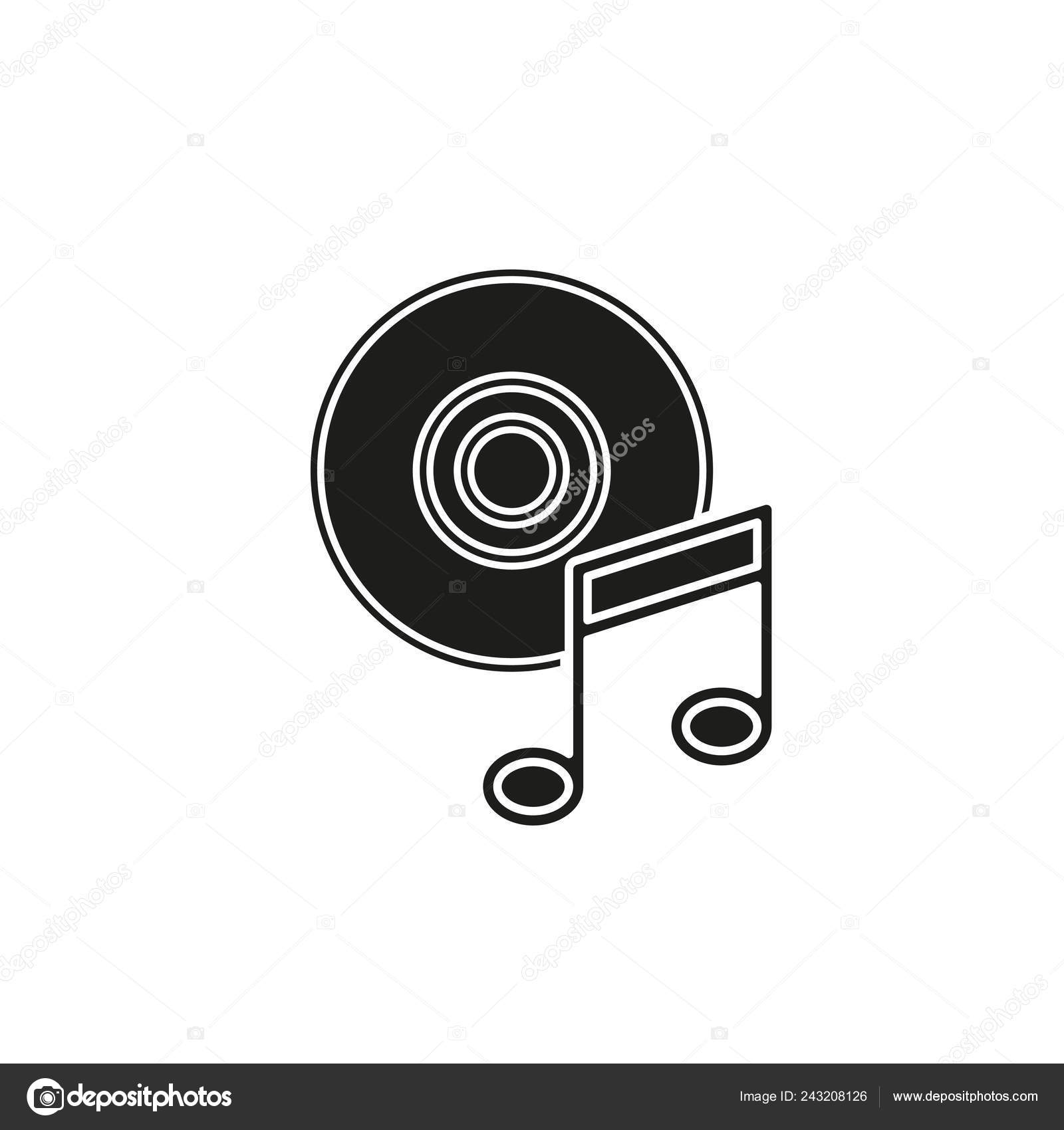 Music Note Dvd Button Media Music Player Multimedia Icon Vector