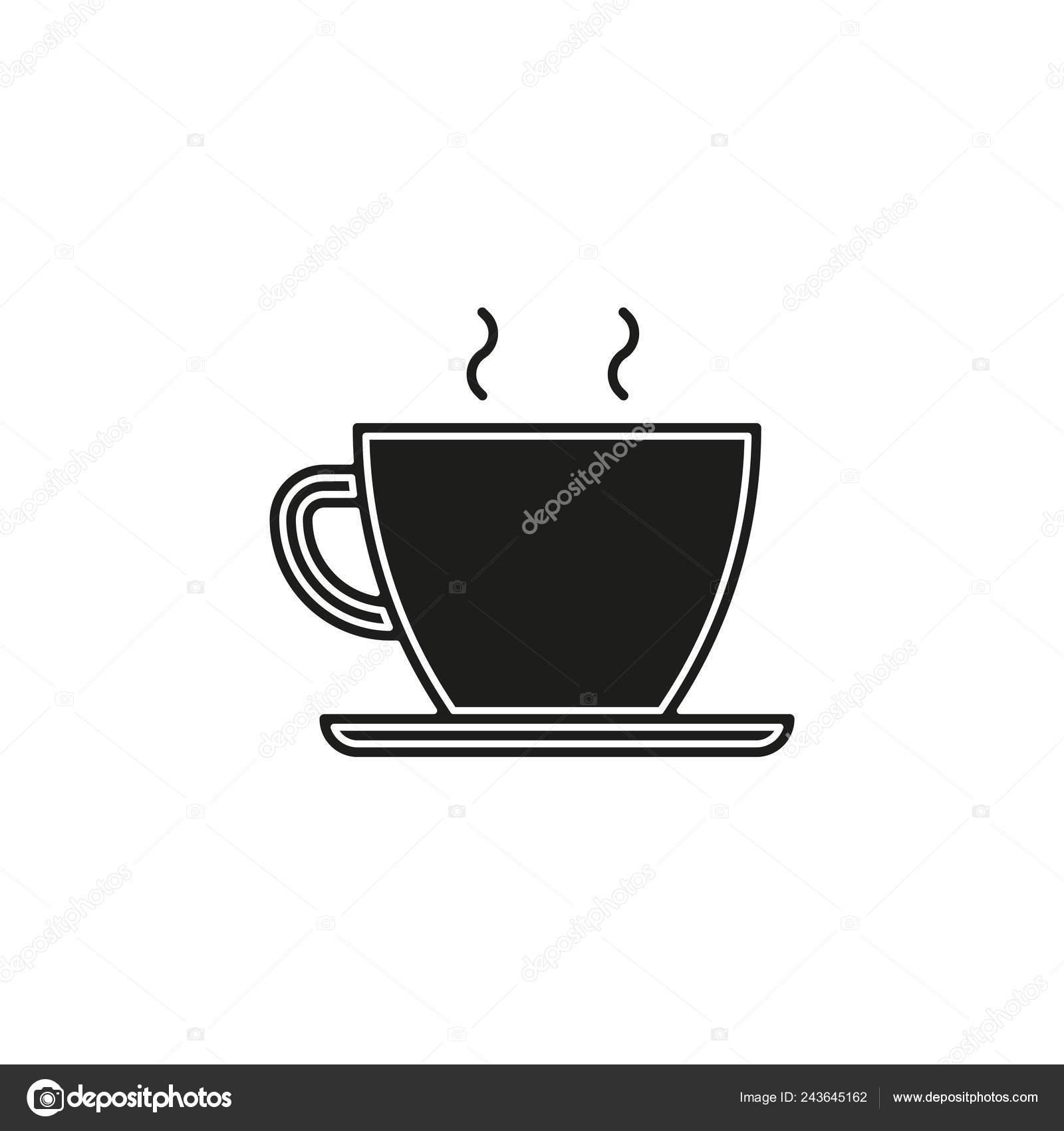 Tea Cup Icon Vector Coffee Mug Illustration Flat Pictogram Simple Vector Image By C German98 Vector Stock 243645162