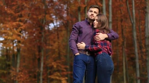 Man hugs hus belowed woman