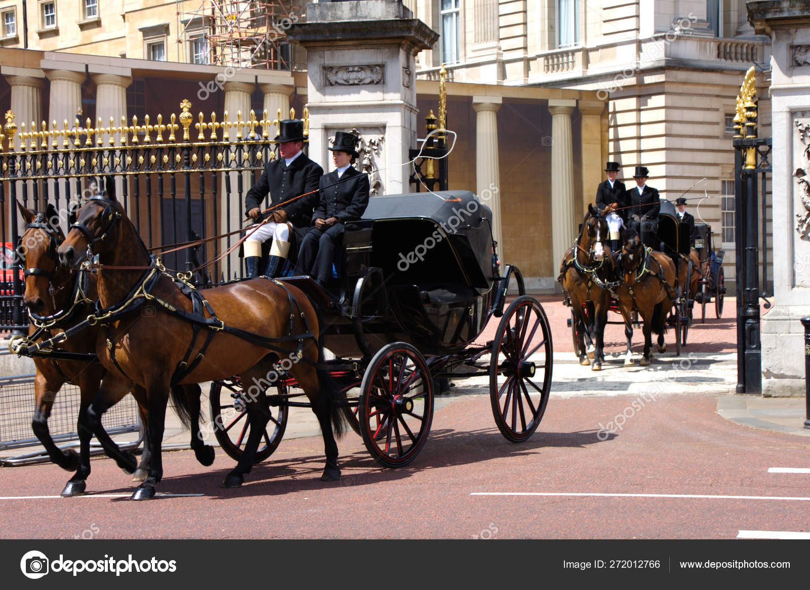 Royal horse buggy at queens birthday celebration rehearsal