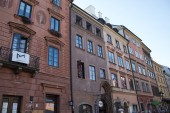 Varsó/Lengyelország-szeptember 22 2019: restaurált a háború után, a régi város Varsó legrégebbi történelmi kerületében Varsó, Varsó egyik leghíresebb turisztikai attrakciói.