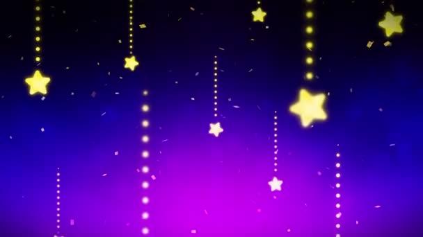 Fényes és ragyogó csillagok. CG hurok animáció. Csillogás csillag mintázat. Karácsonyi.
