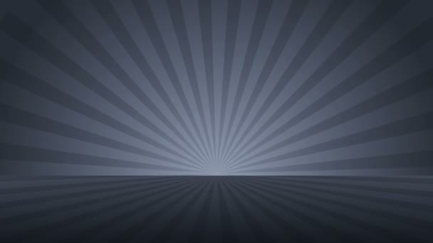 Rotating monochrome radial rays. Shiny background with ray of light. Gray abstract space. Loop animation.