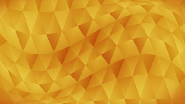 Geometriai alakzatok háromszög mintája. Absztrakt sokszögű hurok animáció. Színes színátmenetes háttér.