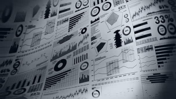 Financial Bar Charts And Growing Graphs Business Infographics With Depth Of Field On Light White Background Business Success Growth Or Progress Concepts Loop Animation