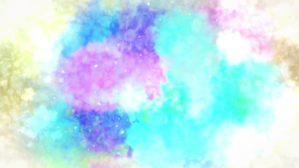 Aquarell farbenfroher Splatter. abstrakter Tuschehintergrund. handgezeichneter Aquarell-Hintergrund. Schleifen-cg-Animation.