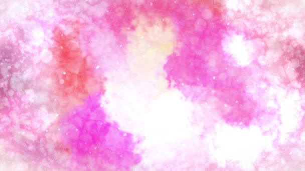 Watercolor colorful splatter. Abstract ink background. Hand drawn watercolor background. Loop CG Animation.
