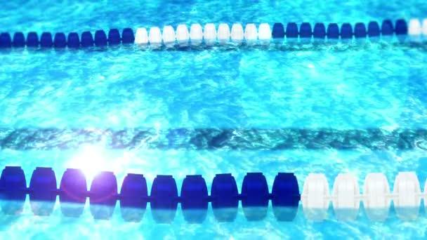 Plavecký bazén s závodním koridorem. Nádherný luxusní plavecký bazén. Koncept pro letní dovolené. Relaxace a uzdravení. Opakovat animaci.