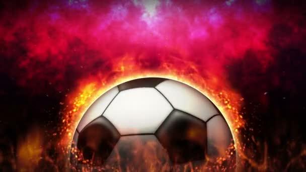 Versus fight background. Vs battle fight. Soccer ball. Sport battle concept loop animation.