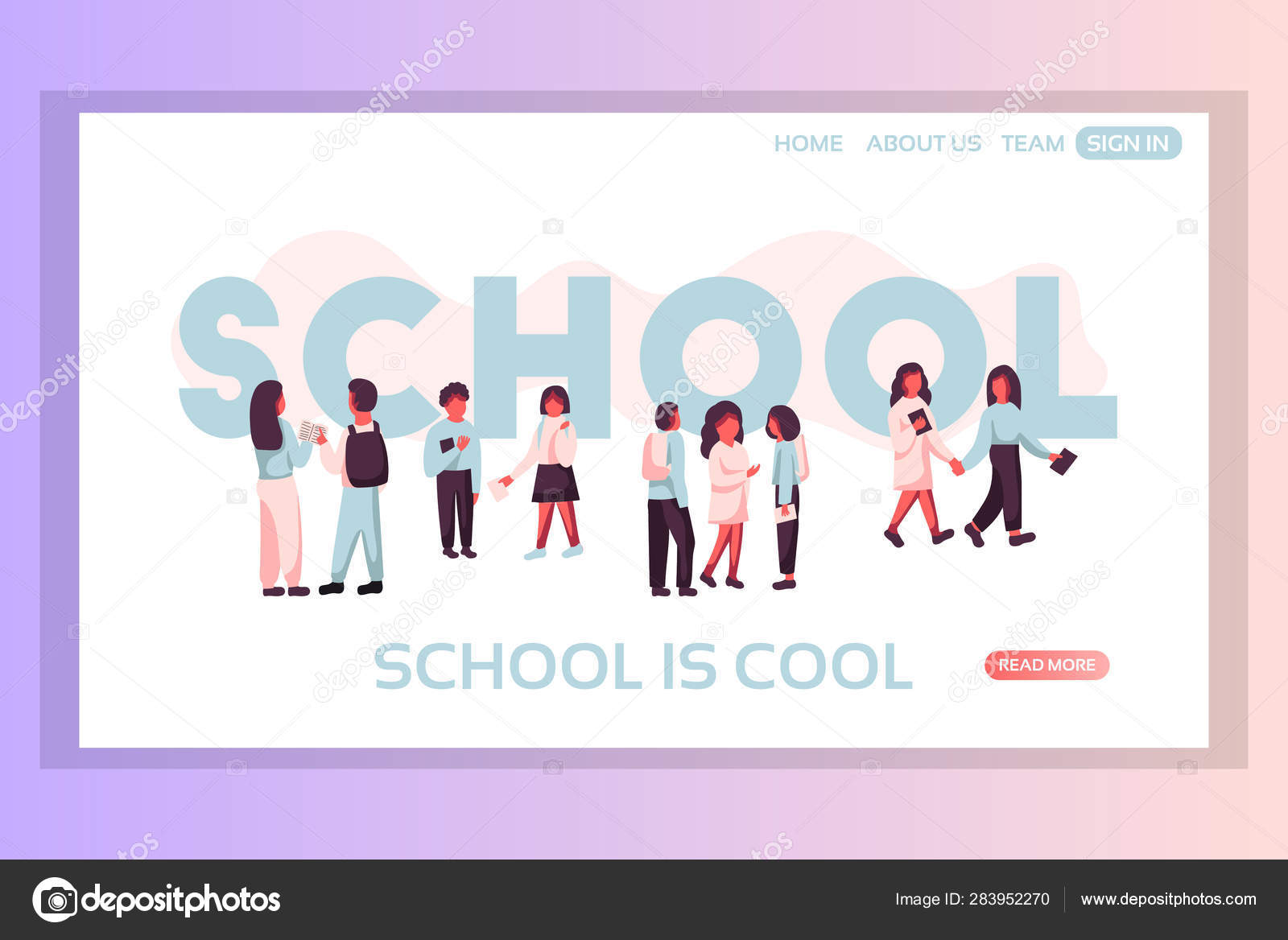 School Web Page Concepts Web Page Design Templates Set Of
