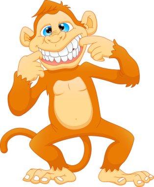 vector illustration of cute monkey cartoon