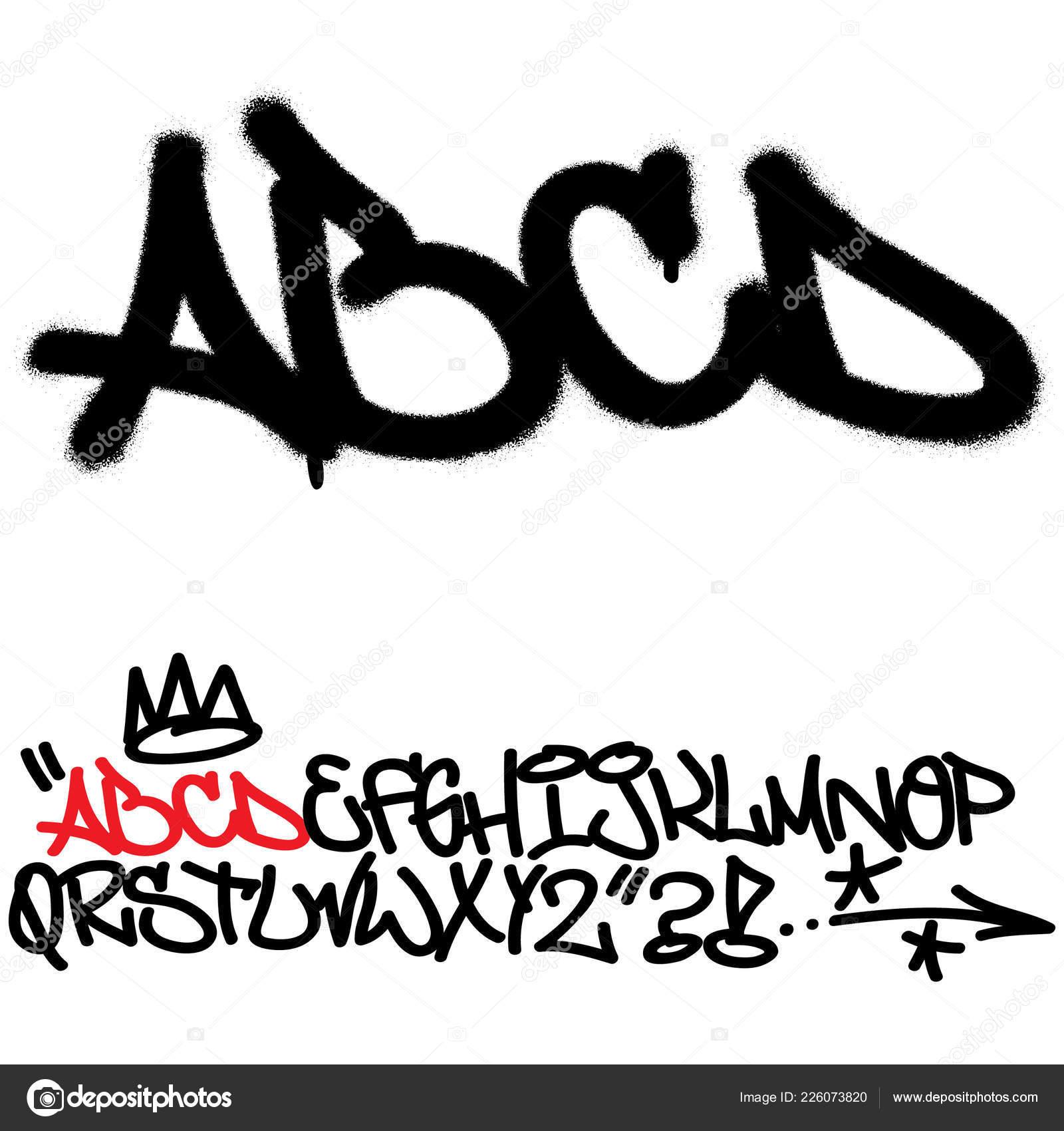 Spray Graffiti Tagging Font Letters I J